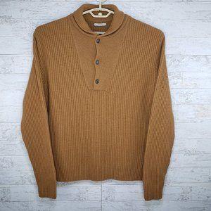 Boglioli Shawl Collar Knit Wool Sweater